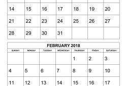 Printable Calendar 2 Months Per Page