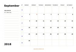 Large Box Appointment Calendar