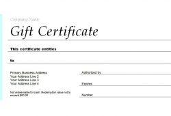 Certificate Gift Voucher Template