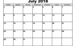 Free July 2018 Calendar Printable Blank Templates Word Pdf 2018