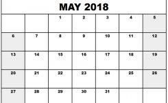 Free May 2018 Printable Calendar Template Free Printable Calendar