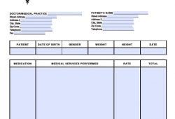 Medical Receipt Template
