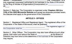Free Minnesota Corporate Laws Template Pdf Word