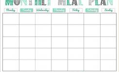 Free Monthly Menu Calendar Jill Davis Design