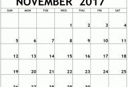 Free Online Calendar For November 2018