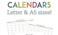 Free Poster Size Calendar Template Jill Davis Design