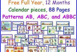 Free Preschool Calendar Print Outs