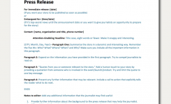 Free Press Release Template Impress Journalists In Seconds