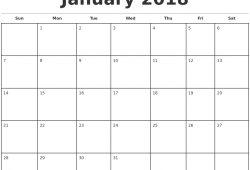 Free Printable Photo Calendar Templates 2018