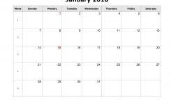 Free Printable 2018 Calendar Word Flash Design