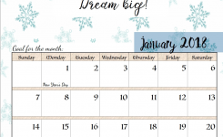 Free Printable 2018 Monthly Motivational Calendars Quotes