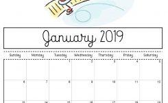 Free Printable 2019 Calendar Print Yours Here Planner Calendar