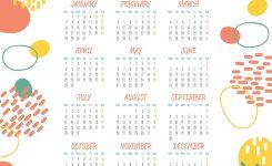 Free Printable 2019 Wall Calendar Monthly Calendar Templates
