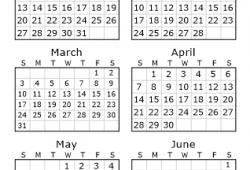 June Calendar 2020 2