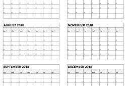 Free Printable 6 Month Calendar 2018