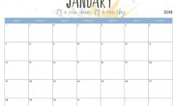 Free Printable Artsy Calendars