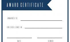 Free Printable Award Certificate Template Paper Trail Design