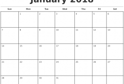 Free 2018 Monthly Printable Calendars