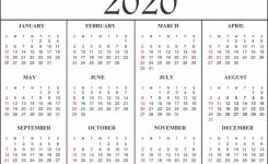 Free Printable Calendar 2020 Template In Pdf Excel Word Calendar Top