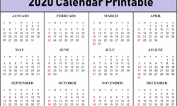 August To October Three Month 2020 Calendar
