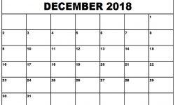 December Calendar 2018