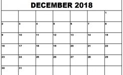 Free Printable Calendar December 2018 Free Printables 2019