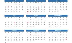 Calendar 2021 France Holidays