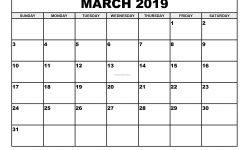 Free Printable Calendar March 2019 2019 Monthly Printable Calendar