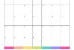 Free Printable Monthly Calendar Template 2019