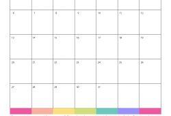 2019 monthly calendar free printable