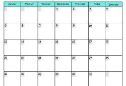 Monthly Calendar Online Free Printable