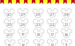 Free Printable Countdown Calendar For Kids Disney World Countdown