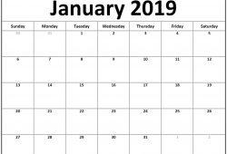Printable 2019 Blank Calendar