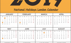 Free Printable London National Holidays 2019 Calendar Templates