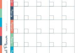 Meal Planning Calendar Printable