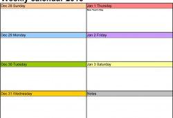 Free Printable Weekly Calendar Pdf