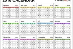 Calendar 2018 Printable Free Uk