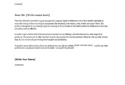 Business Sales Letter Template