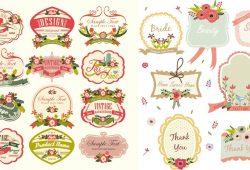 Cute Vintage Labels Template