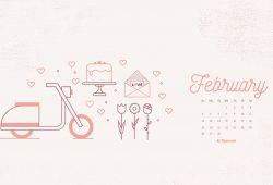 February Calendar Background