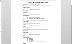 Fsms Emergency Response Plan Template