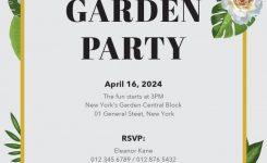 Garden Party Invitation Template Czeckitout