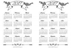Free Calendar Bullet Journal