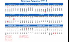 German Calendar 2018 2 Newspicturesxyz