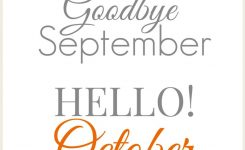 Goode September Hello October Images Quotes Pictures Sayings