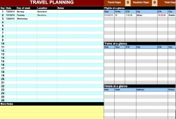 Itinerary Template Google Docs