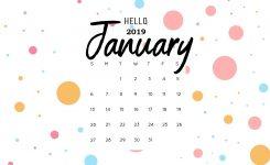 Hello January 2019 Calendar Wallpaper Monthly Calendar Templates
