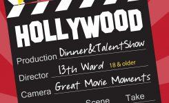 Hillmark Design Hollywood Dinner Talent Show Flyer Church