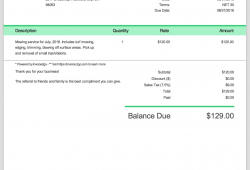 Time And Material Invoice Template