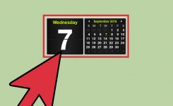 How To Get A Calendar On Your Desktop With Pictures Wikihow